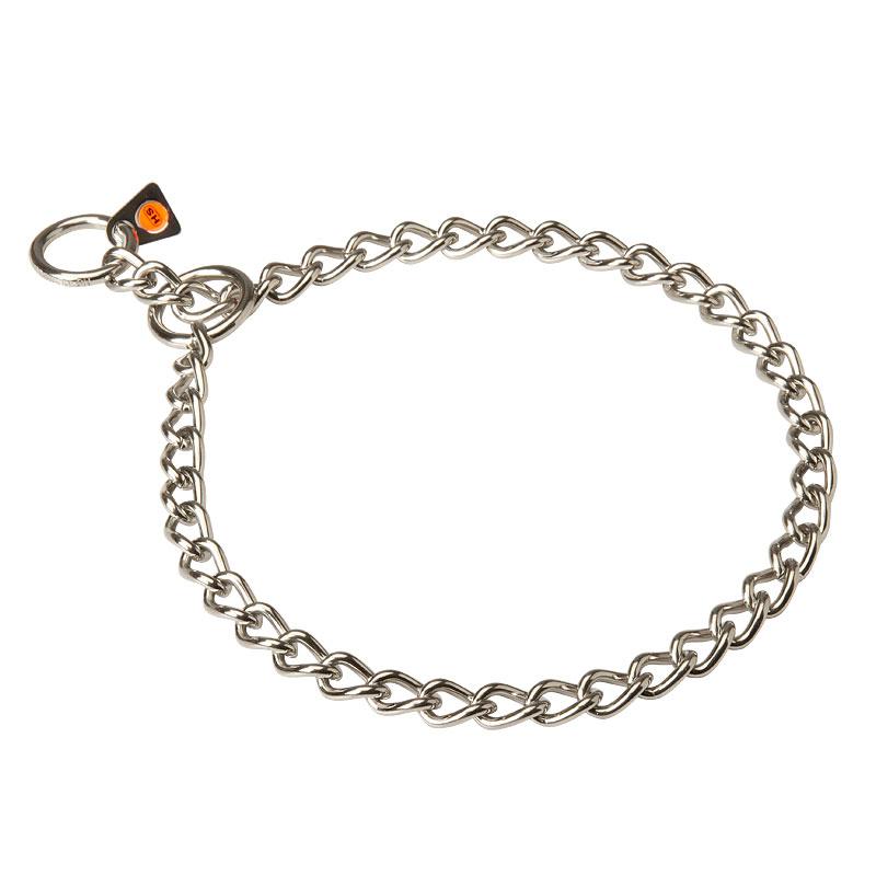 731e68704770 Collar de ahorque de acero inoxidable y eslabones finos para perros  «Endurecer el acero»
